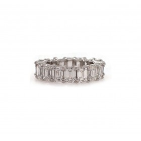 40pt Emerald Cut Eternity Band